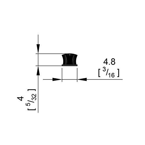 11 m Staubschutzb/ürste 4 mm Borsten grau