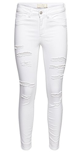 para TOM TAILOR mujer Denim blanco Vaqueros qrrBtwa