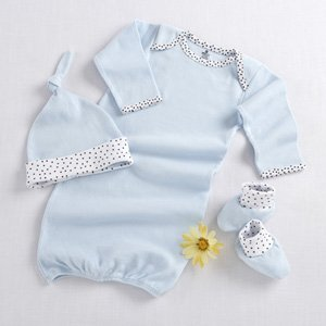 Baby Aspen Welcome Home Baby 3-Piece Layette Gift Set, Blue, 0-6 Months -