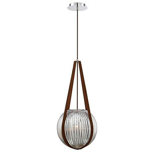 - Eurofase 35990-031 Rosemount - One Light Orb Pendant, Chrome Finish with Smoke Glass