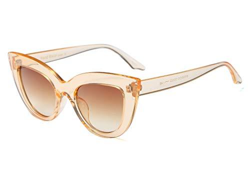 Vintage Retro Cateye Sunglasses for Women Bold Colorful