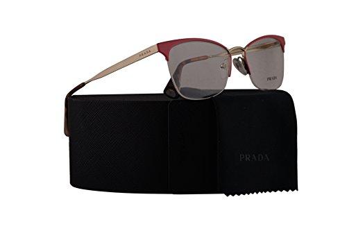 Prada PR65QV Eyeglasses 51-17-140 Fuxia Pale Gold w/Demo Clear Lens PDN1O1 VPR65Q VPR 65Q PR - Cheap Angeles Los Sunglasses