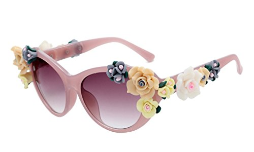 Retro Baroque Holograms Rose Sunglasses For - Sunglasses Cartier Rimless