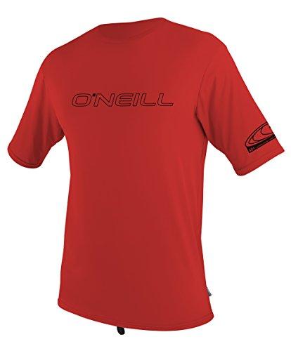 - O'Neill Wetsuits UV Sun Protection Youth Basic Skins Short Sleeve Tee Rashguard  (Red, 8)