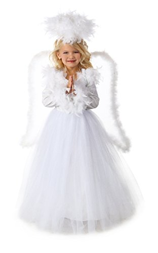 Premium Angel Annabelle Costume Girls Kids Child Size