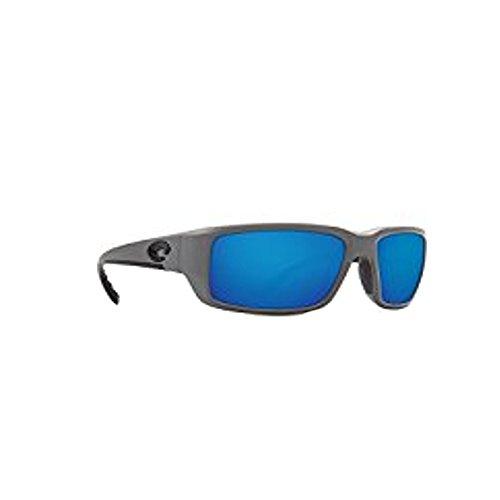 Costa Del Mar Fantail 580P Fantail, Matte Gray Blue Mirror, Blue - Costa Gray Fantail Matte