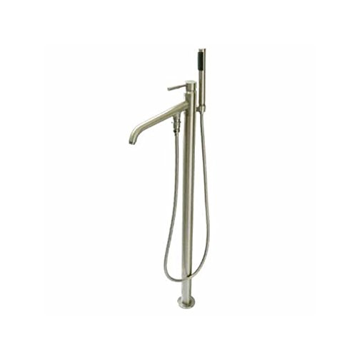 Kingston Brass KS8138DL Concord Pillar Roman Tub Filler with Telephone Shower Set, Satin Nickel