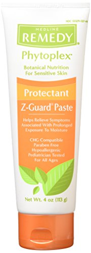Medline Remedy Phytoplex Z-Guard Skin Protectant Paste, 4 Ounce (Best Remedy For Skin Rash)
