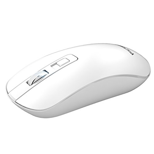 - VicTsing Wireless Mouse,4-Button Slim Silent Full Size Cordless Mice,3 Adjustable CPI Levels, Portable Optical Mouse with USB Nano Receiver and ON-Off Switch for PC, Laptop, Computer and Mac,Black