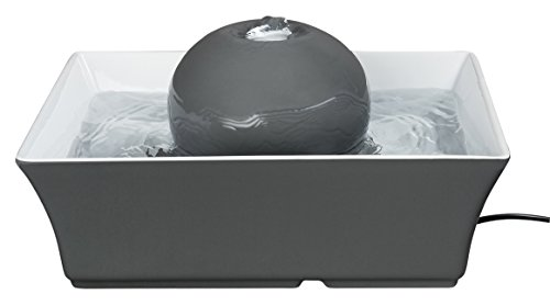 PetSafe Drinkwell Seascape Ceramic Dog and Cat Water Fountain, Gray, 70 oz.