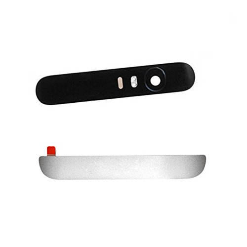 Bottom Plastic cover & Top Camera lens glass Case housing for Huawei Google Nexus 6P H1509 H1511 H1512 Adhesive Pre-installed (silver)