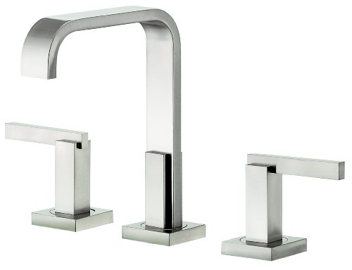 us Trim Line Two Handle Widespread Lavatory Faucet, Brushed Nickel (Sirius Sink Faucet)