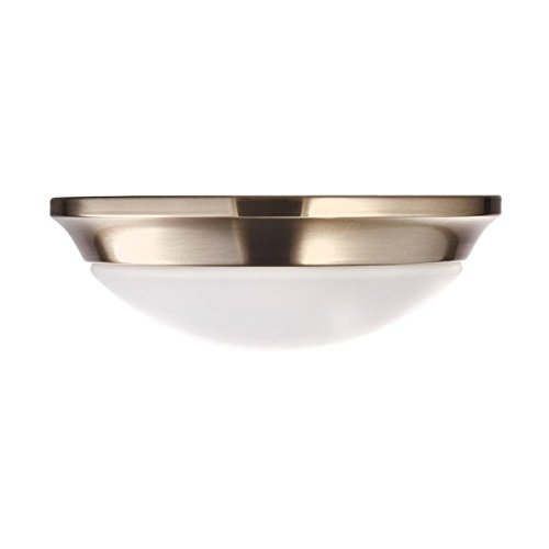 Hyperikon LED Flush Mount Ceiling Light 11 Inch, Model S, 15W (65W Equivalent), 4000K (Daylight Glow), 770 lumens, Dimmable, ENERGY STAR & UL-Listed - Perfect for Kitchen, Living Room, ()