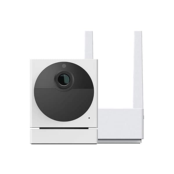 WYZE Cam Outdoor Starter Bundle Includes Base Station and 1 Camera 1080p HD IndoorOutdoor Wire Free