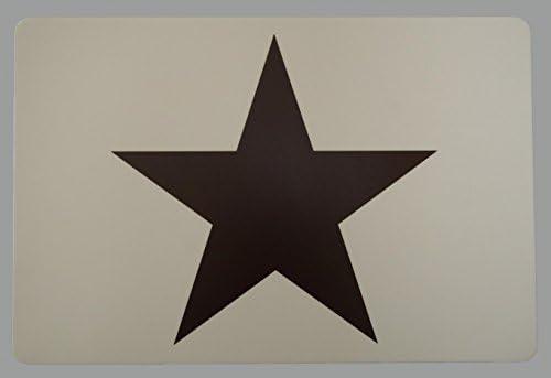 Schreibtischunterlage großer Stern auf beigen Untergrund 40 x 60 cm abwischbar
