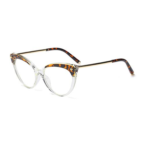 Cat Glasses Ymtp Frame Retro Clear Eyeglasses clear Leopard ...
