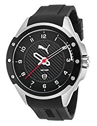 Puma PU104121002 Men's Black Rubber And Dial Stainless Steel Watch
