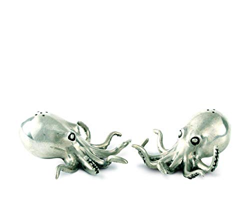 (Vagabond House Pewter Octopus Salt and Pepper Shaker Set 3