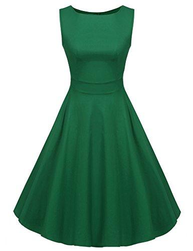 V-Neck Ruched Waist Dress - 5