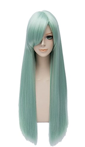 Elizabeth Liones Cosplay Wig Xcoser The Seven Deadly Sins Main Character Light Green Silver Straight Hairs for Women