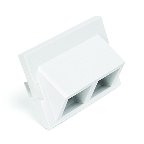 Leviton 41294 2Qw 2 Port Angled Multimedia Outlet System Quickport Adapter Module  1 5 Units High  White