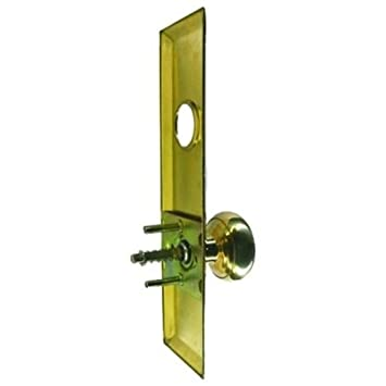 Mortise Lock Escutcheon Plate 2-3/4u0026quot; X 10u0026quot; with Brass Door  sc 1 st  Amazon.com & Mortise Lock Escutcheon Plate 2-3/4