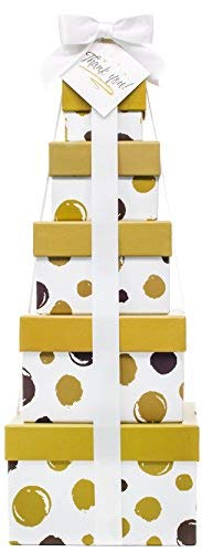 Thank You Gift Basket - Box Tower 16'' - 6 Tier