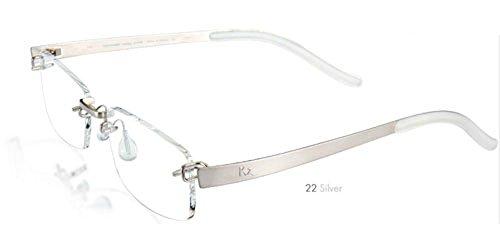 Kazuo Kawasaki Eyeglasses 704 Sarah Palin Eyeglasses, Silver 22 (Size 51, Shape SP) by Kazuo Kawasaki