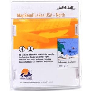 (Magellan Lakes USA North Freshwater Map microSD Card)