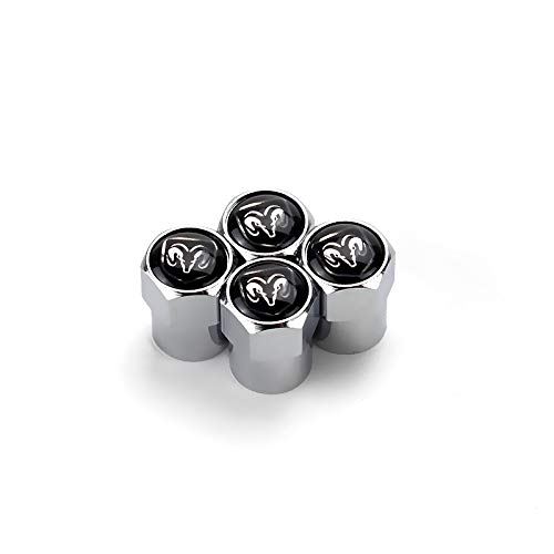 Zhmyyxgs Car Tire Valve stem caps Accessories Ram Logo for Dodge A Set of 5 Pcs
