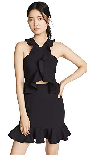 MILLY Women's Cecile Dress, Black, 6