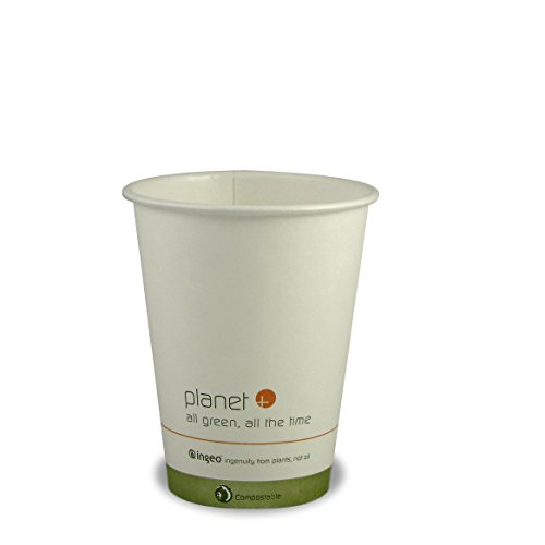 Planet + 100% Compostable PLA Laminated Hot Cup, 12-Ounce, 500-Count Case