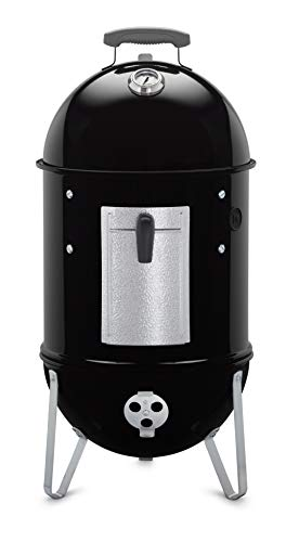 (Weber 711001 Smokey Mountain Cooker 14-Inch Charcoal Smoker, Black)