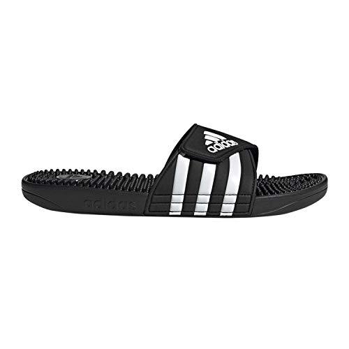 adidas Adissage Slide, Black/White/Black, 8 M US