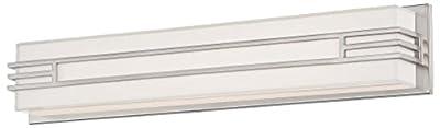 """Minka Lavery 2943-84-L Level Bath Art LED Panel Wall Sconce Lighting, 26.5"""", Brushed Nickel Finish"""