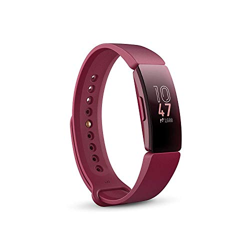 Fitbit Inspire Health & Fitness Tracker with Auto-Exercise Recognition, 5 Day Battery, Sleep &Swim Tracking, Sangria