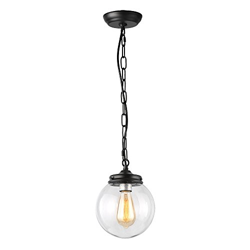Glass Pendant Light With Chain - 8