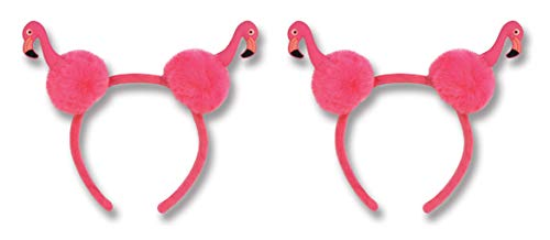 (Beistle 60685 Flamingo Pom Headband, 2 Piece, One Size)