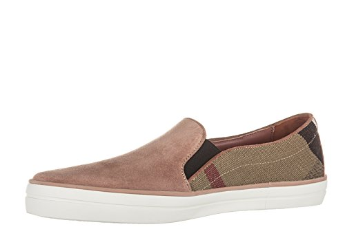 Burberry slip on femme en daim sneakers gauden rose