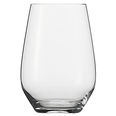 Schott Zwiesel Tritan Crystal Glass Ivento Cocktail/Universal Tumbler, Stemless Wine Glass, 18.6-Ounce, Clear, Set of 6