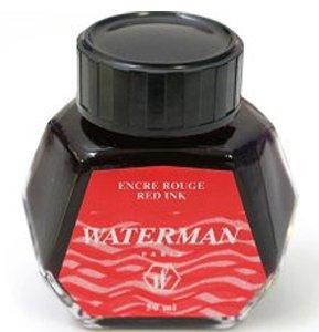 Waterman Fountain Pen Ink, 50 ml Bottle, Audacious Red (51060W3)