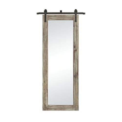 Sterling Industries Large Wall Mirror in Salvaged Gray Oak and Bronze