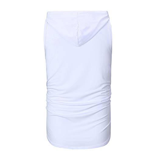 Sans Débardeurs Large Manches Empiècement Porlous Homme Camisole Dentelle Blanc D'été 03 Peigné Causal coton Gilet Soutien 7qq8wUnt