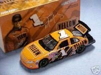 Jamie McMurray #1 Yellow Freight Transportation Dodge Intrepid Busch Series 2003 1/24 Scale Action Racing Collectables Hood, Trunk Open Only 4104 Produced
