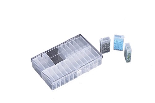 JDONOW plastic PS Jewelry Beads Sewing Pills Storage Box Included 24 Separable Small Container