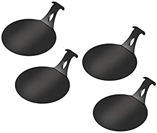 """product image for ARTEFLAME Burger Pucks, 6"""" Diameter Non-Stick Carbon Steel Discs for Cooking Burgers, Veggies, and Seafood On A BBQ Grill, 6"""" Diameter, Set of 4"""