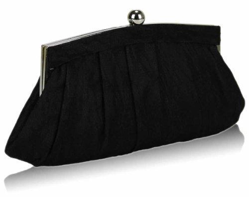 TrendStar - Cartera de mano para mujer negro - Black Floral Lace Clutch