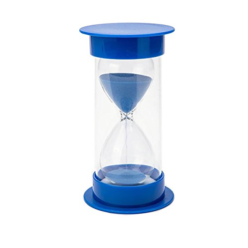 (Sand Timer Sandy Clock, iPhyhe Hourglass 20 minutes as Gift with Blue Lids (Blue Sand))