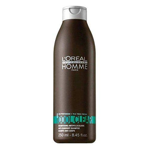 L'oreal Homme Cool Clear Anti-Dandruff Shampoo for Men, 8.45 Ounce