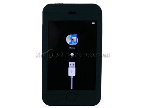 Fosmon Premium Quality Apple iPod Touch 2nd Generation 8Gb / 16Gb / 32Gb Silicone Skin Case - Black - Ipod Touch Premium Silicone
